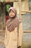 Ragazza musulmana dell'allievo dell'adolescente Fotografie Stock Libere da Diritti