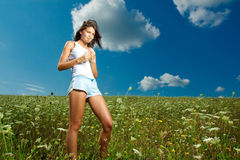 Ragazza in natura Fotografia Stock
