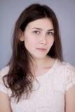 Ragazza naturale della brunetta del ritratto Fotografie Stock