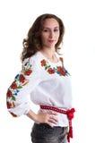 Ragazza nei vestiti nazionali ucraini Immagini Stock Libere da Diritti