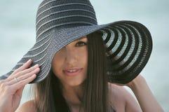 Ragazza nel cappello Fotografia Stock Libera da Diritti