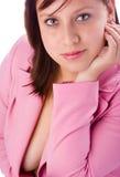 Ragazza nel colore rosa 1 Fotografia Stock