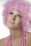 Ragazza nel colore rosa Fotografia Stock Libera da Diritti