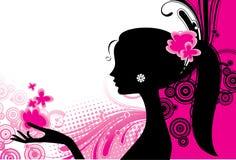Ragazza nel colore rosa Immagini Stock