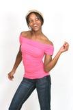Ragazza nel colore rosa che propone la serie Fotografie Stock Libere da Diritti
