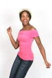 Ragazza nel colore rosa che propone la serie Fotografia Stock Libera da Diritti