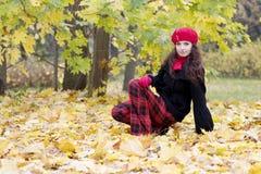 Ragazza nel colore rosso Fotografia Stock Libera da Diritti