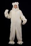 Ragazza nel costume dell'orso polare Immagine Stock Libera da Diritti