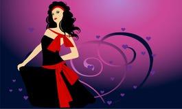 Ragazza nel dancing Illustrazione Vettoriale