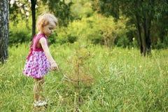 Ragazza nel giardino Fotografia Stock