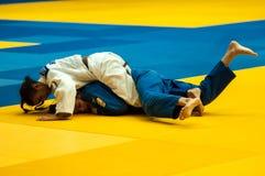 Ragazza nel judo Fotografie Stock Libere da Diritti