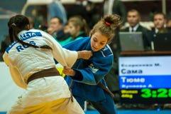 Ragazza nel judo Fotografie Stock