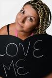 Ragazza nell'amore Fotografie Stock Libere da Diritti