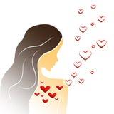 Ragazza nell'amore illustrazione di stock