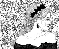 Ragazza nella corona della regina Immagini Stock Libere da Diritti