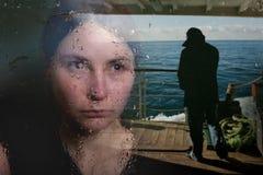 Ragazza nella depressione Fotografie Stock Libere da Diritti
