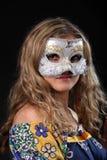Ragazza nella mascherina veneziana Fotografie Stock