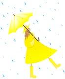 Ragazza nella pioggia illustrazione vettoriale