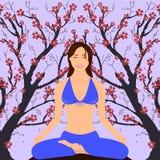 Ragazza nella posa di yoga Immagini Stock Libere da Diritti