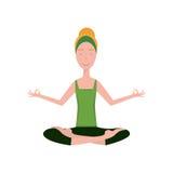 Ragazza nella posa di yoga Immagine Stock