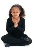 Ragazza nella posa di yoga Immagini Stock