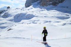 Ragazza nelle alpi europee Immagine Stock Libera da Diritti