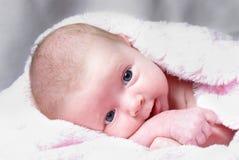 Ragazza neonata attenta Fotografia Stock