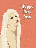 Ragazza. Nuovo anno Fotografie Stock
