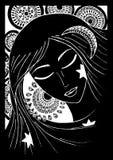 Ragazza o donna sentagle Vettore abbozzo illustrazione vettoriale
