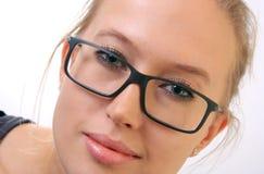Ragazza in occhiali. Immagine Stock