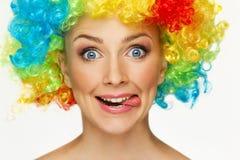 Ragazza in parrucca Fotografia Stock