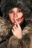 Ragazza in pellicce Fotografia Stock Libera da Diritti