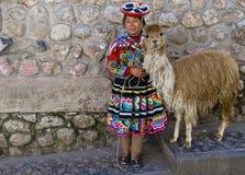 Ragazza peruviana Fotografie Stock