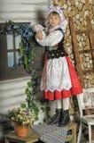 Ragazza polacca in costume nazionale Fotografie Stock Libere da Diritti