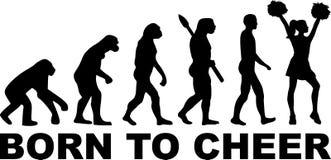 Ragazza pon pon Evolution Born da incoraggiare illustrazione di stock