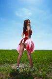 Ragazza pon pon di bellezza Fotografia Stock Libera da Diritti