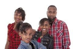 ragazza Pre-teenager con la sua famiglia Fotografia Stock