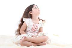 Ragazza prescolare sveglia Fotografia Stock Libera da Diritti