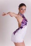 Ragazza professionale del danzatore nel movimento Immagini Stock