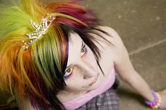 Ragazza punk Fotografia Stock Libera da Diritti