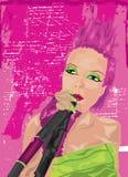 Ragazza punk nel colore rosa Fotografie Stock Libere da Diritti