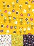 Ragazza, ragazzo e ABC illustrazione di stock