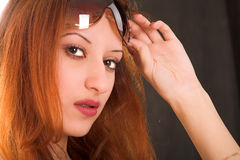 Ragazza Red-haired fotografia stock