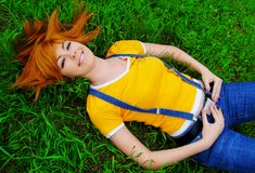 Ragazza Red-haired immagine stock