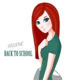 Ragazza Red-haired Fotografia Stock