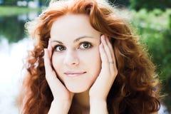 Ragazza Red-headed fotografia stock