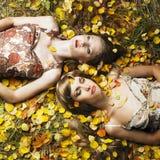 Ragazza romantica due Fotografie Stock