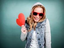 Ragazza romantica felice Immagine Stock