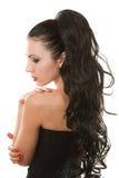 Ragazza romantica russa con capelli lunghi fotografie stock