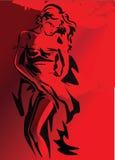 Ragazza rossa royalty illustrazione gratis